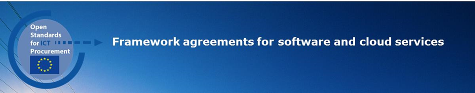 Framework agreements for software and cloud services