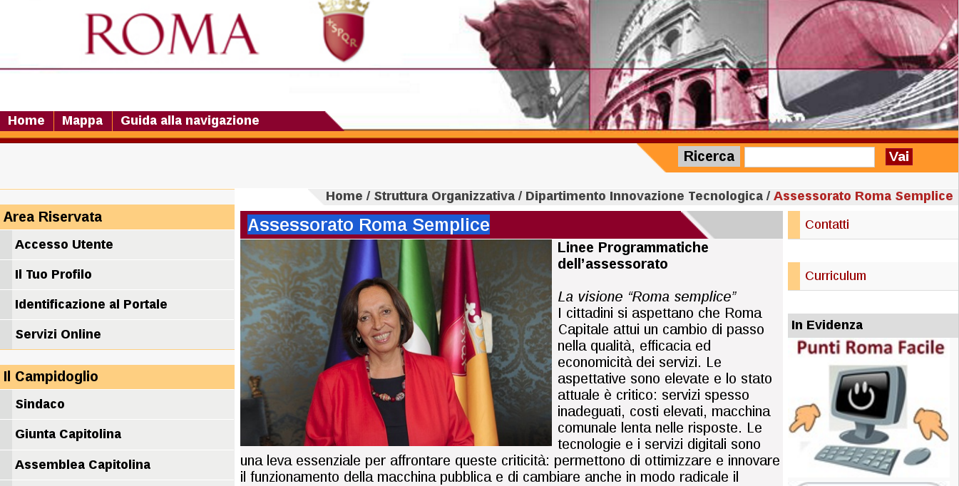 The website of City Councillor Flavia Marzano