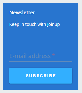 "The ""Newsletter"" tile"
