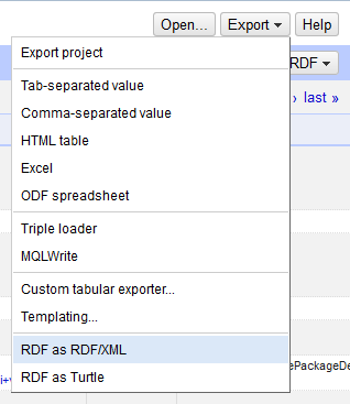 Exporting as RDF