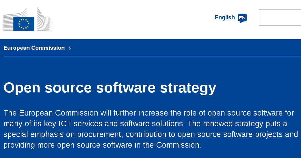 The European Commission's Open Source Software Strategy 2014 - 2017