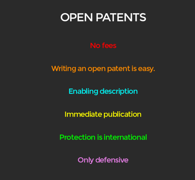 The many advantages of the Open Patent Office