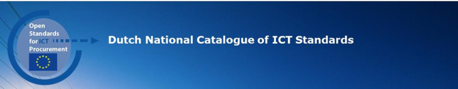 Dutch National Catalogue of ICT Standards