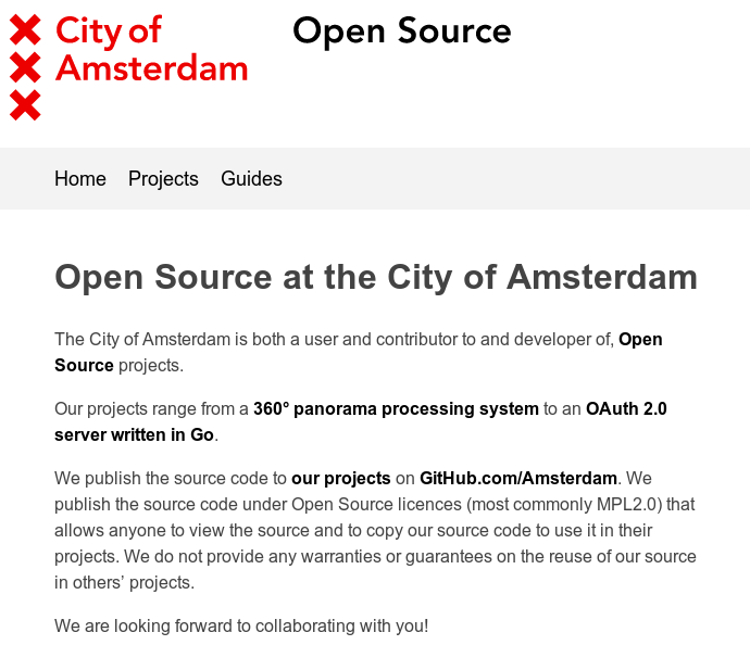 Part of the Amstedam open source policy - available on Github