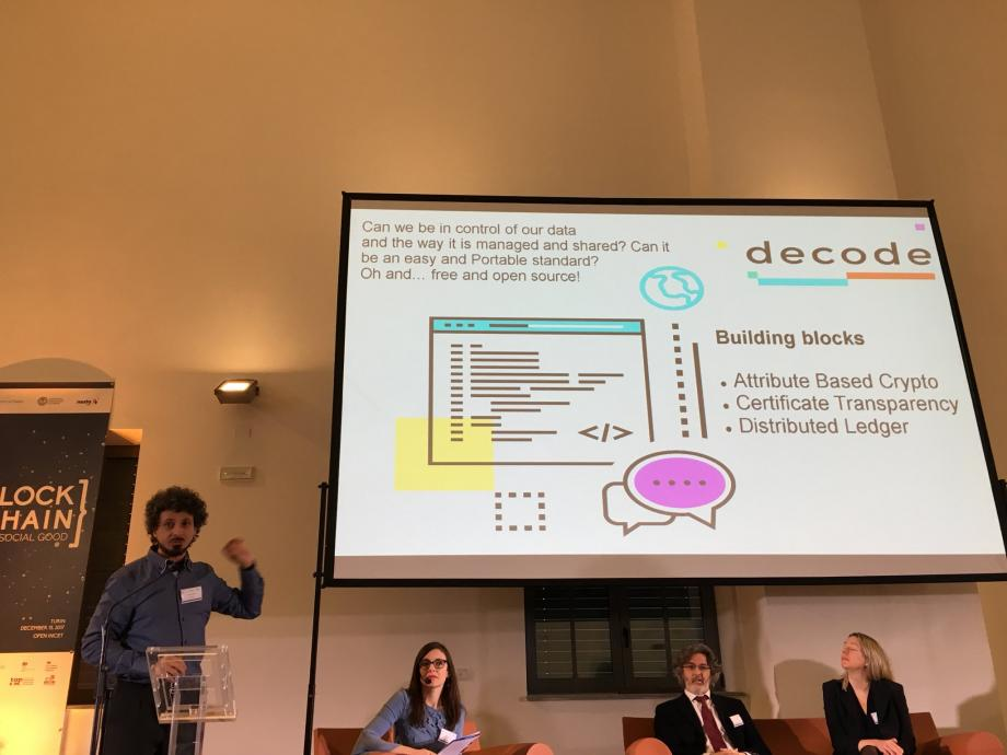 An image taken from Twitter, showing a slide of a presentation on Decode