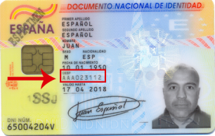 A sample eID card issued by Spain that is affected by the security flaw